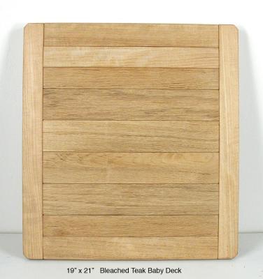 "Bleached Teak Baby Deck (2"" Planks)"