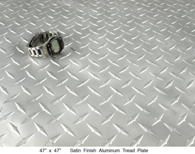 Satin Brushed Aluminum Tread Plate (50 LBS)