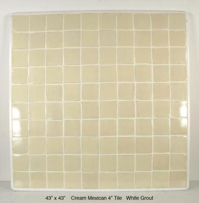 """Cream Mexican 4"""" tile White Grout (70 lbs)"""