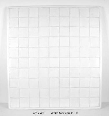 "White Mexican 4"" Tile (60 lbs)"