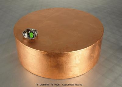 Copper Leaf Round