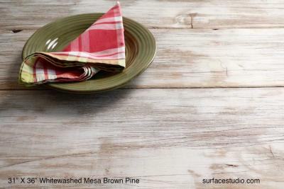 "Whitewashed Mesa Brown Pine  (11"" planks)"