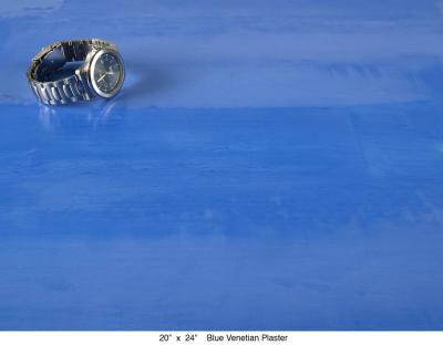 Blue Venetian Plaster
