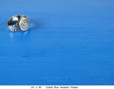 Cobalt Blue Venetian Plaster