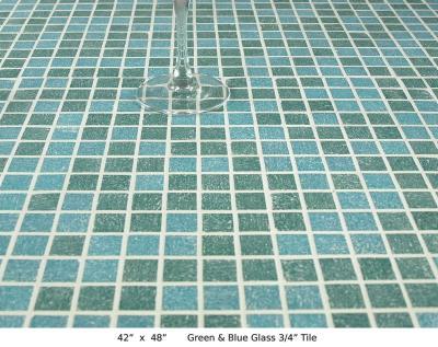 "Green & Blue Glass ¾"" Tile (50 lbs)"