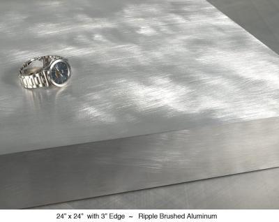 """Rippled Brushed Aluminum 3"""" Edge"""