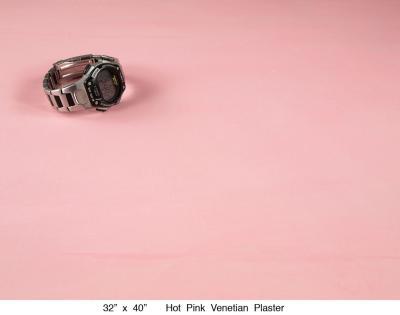 Hot Pink Venetian Plaster
