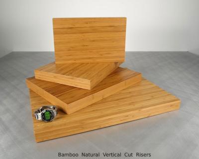 Bamboo Natural Vertical Cut Risers (4) $50 - $85