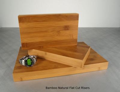 Bamboo Natural Flat Cut Risers (3) $45 & $60