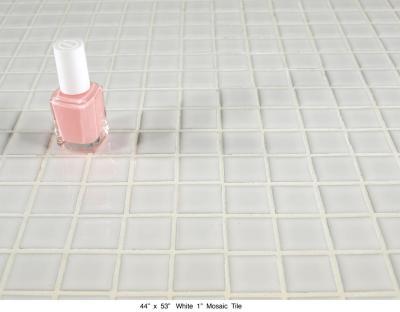 "White 1"" Mosaic Tile (55 lbs)"