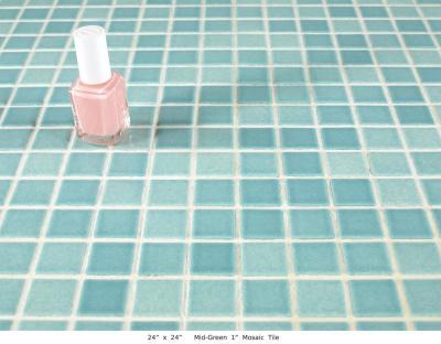 "Mid-Green Mosaic 1"" Tile (20 lbs)"