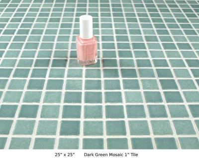 """Dark Green Mosaic 1"""" Tile (20 lbs)"""