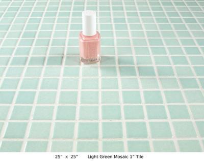 """Light Green Mosaic 1"""" Tile (20 lbs)"""