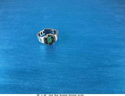 Dark Blue Brushed Mirrored Acrylic