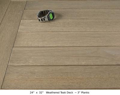 "Weathered Teak Deck (3"" Planks)"