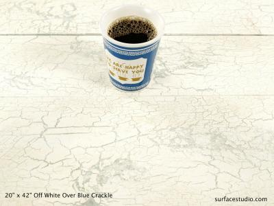 Off-White Over Blue Crackled