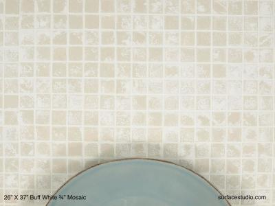 """Buff White ¾"""" Mosaic (25 lbs)"""
