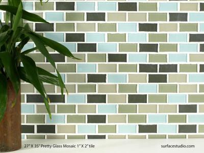 "Pretty Glass Mosaic 1"" X 2"" Tile (25 lbs)"