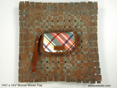 Woven Bronze Tray