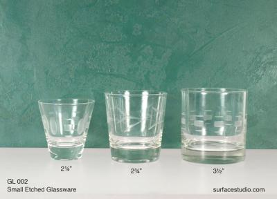 GL 002 Small Etched Glassware $5 per item