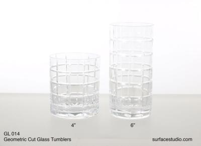 GL 014 Geometric Cut Glass Tumblers $5 per item