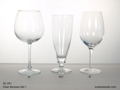 GL 031 Clear Barware Set One $5 per item