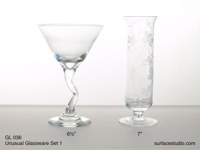 GL 036 Unusual Glassware Set One $5 per item
