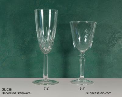GL 038 Decorated Stemware $5 per item