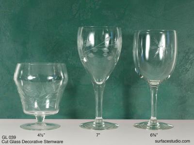 GL 039 Cut Glass Stemware $5 per item
