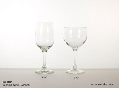 GL 042 Classic Wine Glasses $5 per item