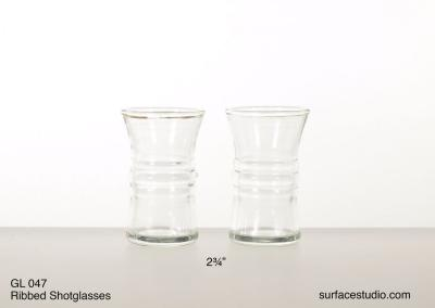 GL 047 Ribbed Shot Glasses $5 per item