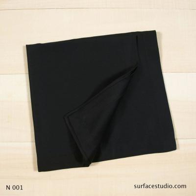 N 001 Black Solid Napkin