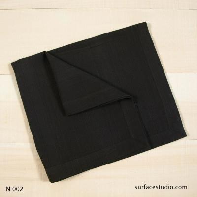 N 002 Black Solid Napkin