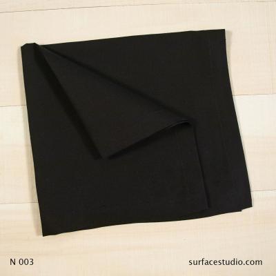 N 003 Black Solid Napkin
