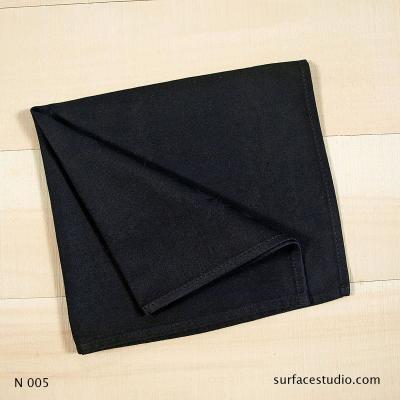 N 005 Black Solid Napkin