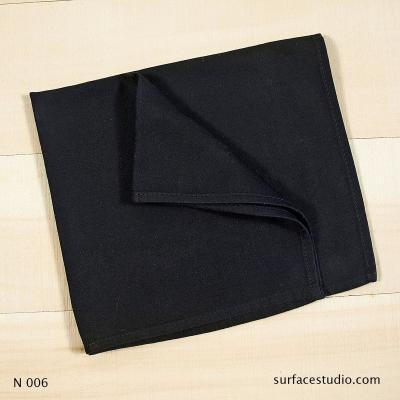 N 006 Black Solid Napkin