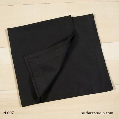 N 007 Black Solid Napkin
