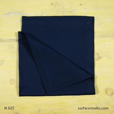 N 025 Dark Blue Solid Napkin