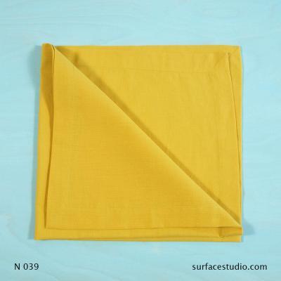 N 039 Yellow Solid Napkin