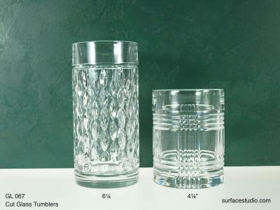 GL 067 Cut Glass Tumblers $5 per item