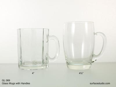 GL 069 Glass Mugs With Handles $5 per item