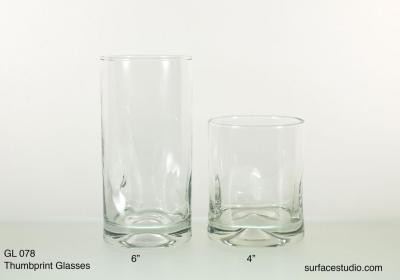 GL 078 Thumbprint Glasses $5 per item