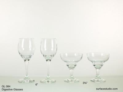 GL 084 Digestive Glasses $5 per item