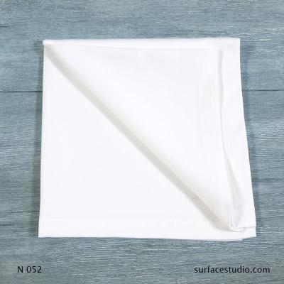 N 052 White Solid Napkin 6 available