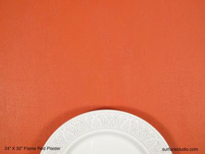 Flame Red Plaster