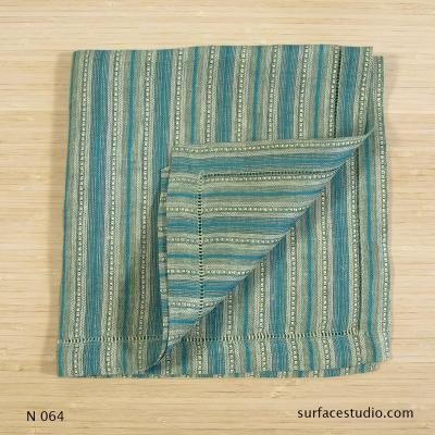 N 064 Green and Blue Striped Napkin