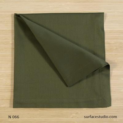 N 066 Dark Green Solid Napkin