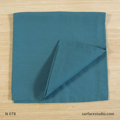 N 078 Blue Green Solid Napkin