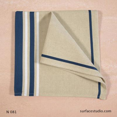 N 081 Beige Blue Striped Napkin