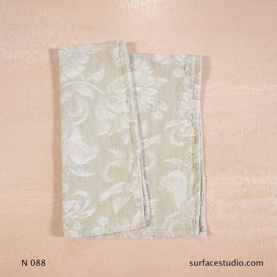 N 088 Beige Floral Patterned Napkin